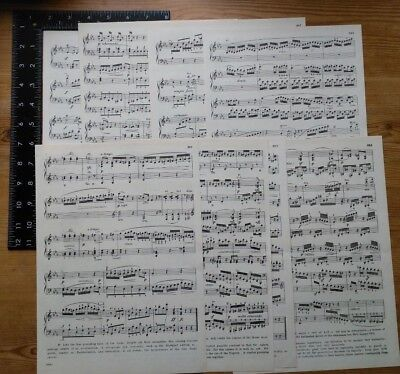 £1.10 • Buy Music Paper / Manuscript Papers, Pack Of 8 Large Vintage Sheets