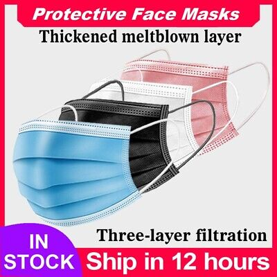 AU20.99 • Buy 50PCS Face Mask High Protective 3 Layer Mouth Masks Disposable Mask Surgical 🌬