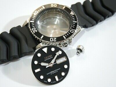$ CDN108.83 • Buy New Replacement Case,crown,black Dial,hands,strap Fits Seiko Skx031 Divers 10bar