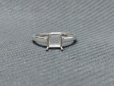 £14.75 • Buy Sterling Silver 6 Mm Square Semi Mount Ring Setting Square Ring Blanks