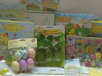 £2.60 • Buy Easter Decorations Chick Lamb Arts & Crafts Stickers, Paper Chains,Egg Hunt Kits