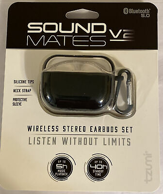 $ CDN30.06 • Buy SoundMates V2 Wireless Earbuds Stereo Bluetooth 5.0 Headphones Charging Case New