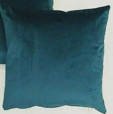 £6.59 • Buy Smooth Opulence Velvet Rich Peacock Teal Blue Cushion Cover £6.59 Each Uk Made