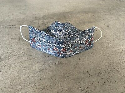 4ply Liberty Fabric Face Mask Nose Bridge Wire Filter Pocket Cotton Washable • 10.99£