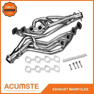$155.99 • Buy For 96-04 Mustang Gt 4.6 V8 Stainless Long Tube Racing Exhaust Manifold Headers