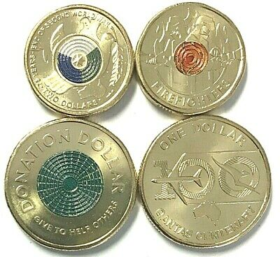 AU34.95 • Buy 2020 Coins Firefighters, End Of WW2, Qantas And Donation Dollar 4 Coins Unc