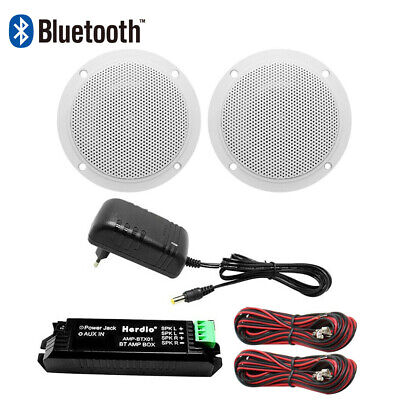 £39.98 • Buy Wireless Bluetooth Amplifier + Bathroom Home 4 Inch Ceiling Speakers(White)