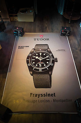 £209.88 • Buy TUDOR WATCH A 4x6 Ft Bus Shelter Original Fashion Luxury Advertising Poster
