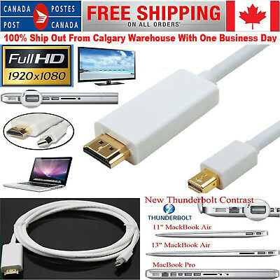 $12.84 • Buy 6 FT Thunderbolt Mini DisplayPort To HDMI TV Cable Adapter For MacBook Pro IMac