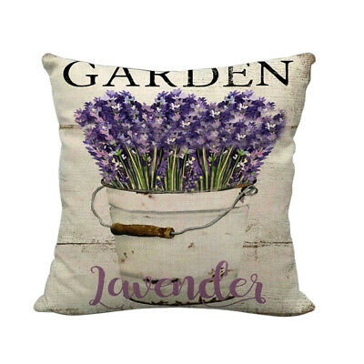£6.99 • Buy Vintage Lavender Cushion 45x45cm Choose Cover Only Or Filled Cushion Flowers