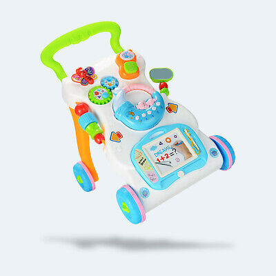 £16.99 • Buy 2 In 1 Baby Walker First Steps Activity Bouncer Musical Toys Car Push Along Tool