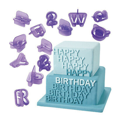 Alphabet Letter Mould Stencil Cake Jelly Cupcake Ice Chocolate Mold Food Plastic • 4.09£