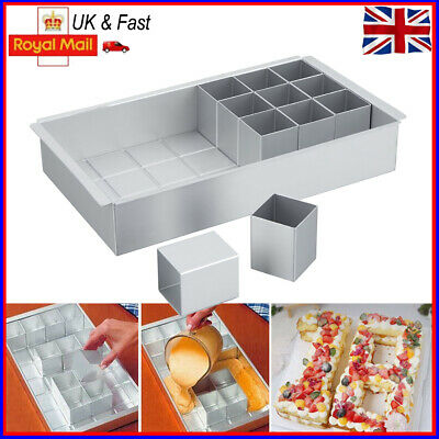 £11.98 • Buy Rectangle DIY Cake Baking Mold Tray Number Letter Tins Mould Aluminum Alloy Pan