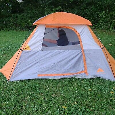 AU58.39 • Buy Ozark Trail Tent 4 Person Sport Dome Gray And Orange 9ft X 8ft Camping