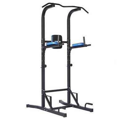 £220 • Buy Pro Fitness Men's Health Power Tower Pull Up Home Gym Lats Abs Adjustable