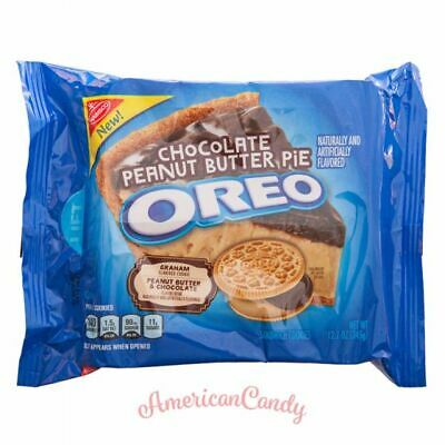New: 1x 482g Oreo Chocolate Peanut Butter Pie USA Oreo Biscuits (26,95 €/ 1kg) • 11.32£