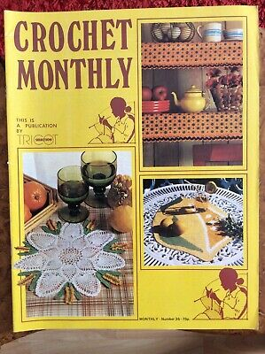 £7 • Buy Crochet Patterns.mats.strawberries.shelf Cover.curtains.Crochet Monthly.No35.