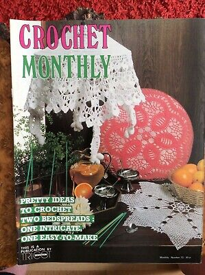 £7 • Buy Crochet Patterns.bedspreads.lamp Shades.mats.cushion Cover.Crochet Monthly.No 73