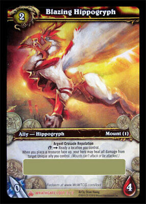 £1073.30 • Buy WOW World Of Warcraft TCG Unscratched Loot Card  Blazing Hippogryph Flying Mount