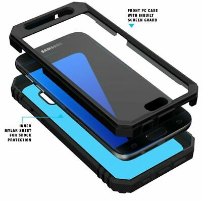 $ CDN13.21 • Buy For Samsung Galaxy S7 Case With Screen Protector Phone Cover Shockproof Black
