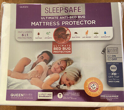 £14.31 • Buy Sleep Safe Mattress Protector, Zipper Open/Close, Bed Bug Protection, 3 Sizes