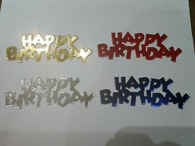 £2.60 • Buy 10 X Happy Birthday Card Toppers, Die Cut, Paper Craft, Celebration