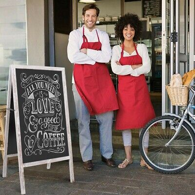 A-Board Frame Pavement Sign Floor Stand Chalkboard For Cafe Pub Poster Promotion • 26.93£