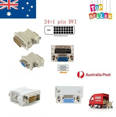 AU9.97 • Buy DVI-D Digital Dual Link 24+1 To VGA  Adapter Male To Female Computer Monitor AUS