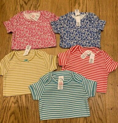 £19.99 • Buy New Ex Baby Boden 5 Rompers/vests/bodysuits Set Flowers And Stripes Age 3-6 Mo