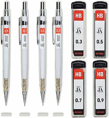 $7.53 • Buy Drafting Pencil Set - Each Mechanical With Erasers Pencils 0.3, 0.5, 0.7, 0.9 Mm