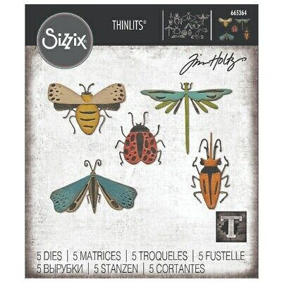 £14 • Buy NEW Sizzix Funky Insects Dies By Tim Holtz