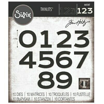 £14.99 • Buy NEW Sizzix Countdown Number Dies By Tim Holtz