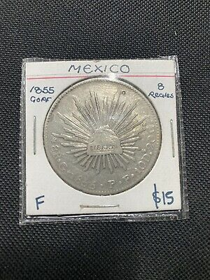 AU315 • Buy Silver Coin 1855 Mexico 8 Reales