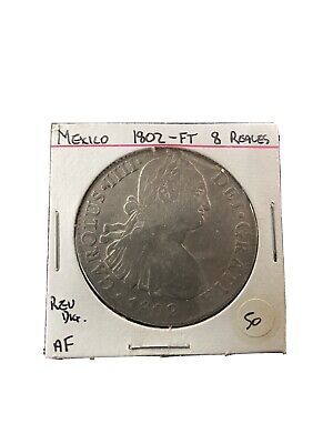 AU385 • Buy Silver Coin 1802 Mexico 8 Reales