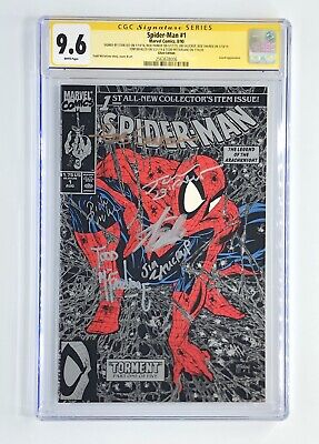 £708.23 • Buy Amazing Spider-man #1 Silver Cgc 9.6 Ss Signed Stan Lee,mcfarlane, Defalco +3