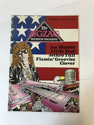 £6.60 • Buy ZIGZAG No63 August 76 Ian Hunter, Little Feat, Tull, Flaming Groovies