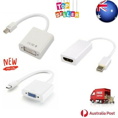 AU11.71 • Buy Mini Display Port To VGA HDMI DVI-D Adapter Male To Female Converter Cable White
