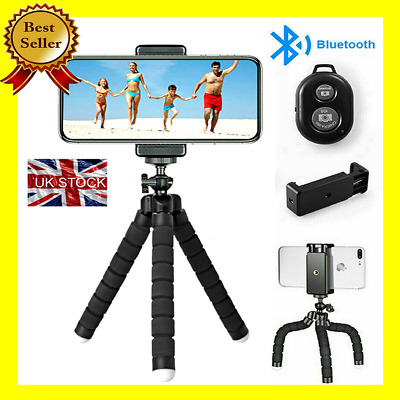 Universal Mini Mobile Phone Holder Tripod Stand Grip For IPhone Camera Samsung • 6.99£