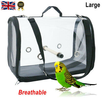 £20.89 • Buy 16  Bird Parrot Travel Cage Carrier Backpack Outdoor Breathable Bag With Perch