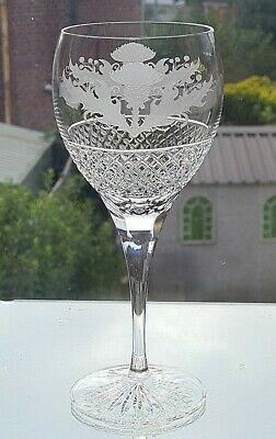 £35 • Buy  Thistle Design 14oz Crystal Goblet         8 1/4 Inches Tall (Quality)