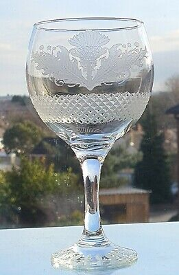 £20 • Buy  Lovely Thistle Design 22oz Goblet / Gin Glass ( Frosted Finish Hand Cut )