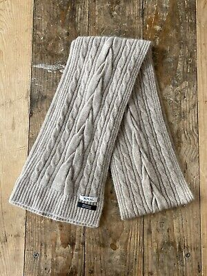 N.Peal 100% Pure Cashmere Cable Knit Scarf. FREE UK POST • 40£