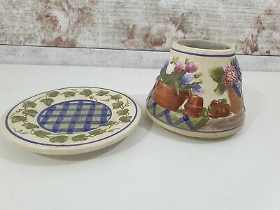 Yankee Candle Cottage Flower Garden Tray + Shade Set Small • 14.99£