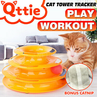 AU14.53 • Buy Funny Cat Toy Plastic Tower Interactive Track Ball Playing Game 3Levels Pet Toys