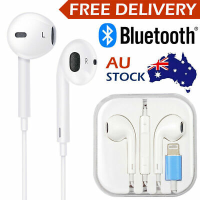 AU8.88 • Buy Wired Bluetooth 8pin Earphones Headphones Mic For IPhone11 8 7 X Xs XR 12