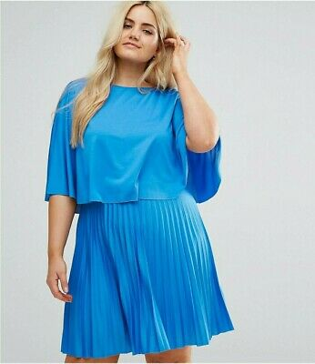 AU30 • Buy Asos Curve Kimono Cape Pleated Dress - Size 24