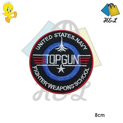 £2.09 • Buy TOP GUN Video Game Logo Embroidered Patch Iron On Sew On Badge Cap Jeans Jacket