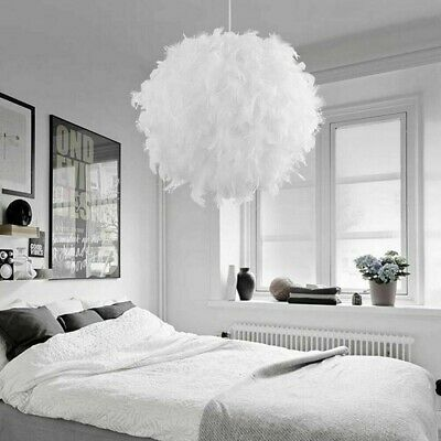 £14.99 • Buy Feather Round Ceiling Light Shade Pendant Lampshade Easy Fit Sphere Modern Style