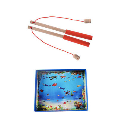 £8.39 • Buy 32 Pcs Magnetic Fishing Game Toy Kids Children-Early-Education-3D Wooden Toys UK