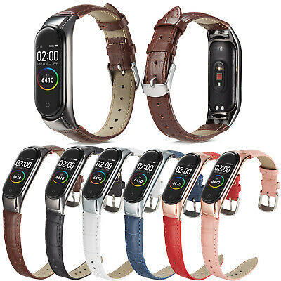 £7.20 • Buy Leather Watch Wristband Replacement Strap + Metal Frame For Xiaomi Mi Band 5 4 3